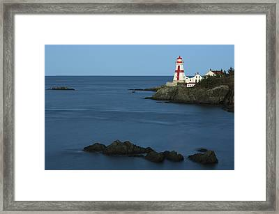 East Quoddy Lighthouse At Dusk Framed Print