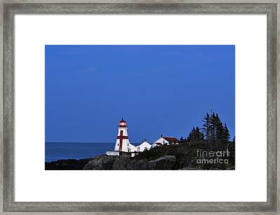 East Quoddy Lighthouse - D002160 Framed Print by Daniel Dempster