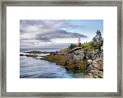 East Quoddy Lighthouse Framed Print by Monnie Ryan