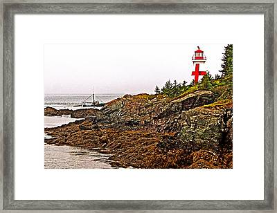 East Quoddy Lighthouse On Campobello Island-new Brunswick  Framed Print by Ruth Hager