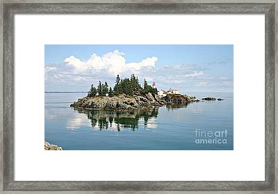 East Quoddy Lighthouse Summer Afternoon Framed Print by Brenda McGee-Paap