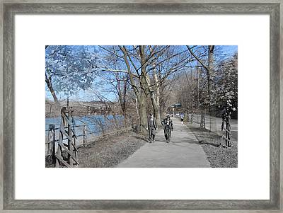 East River Drive Walk Framed Print