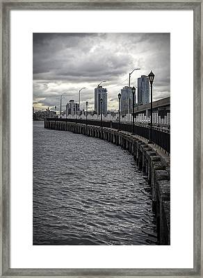 East River Looking South Framed Print by Robert Ullmann