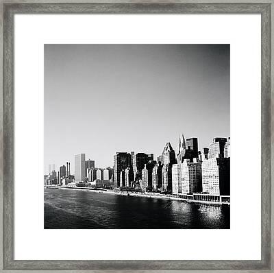 East River New York Framed Print by Shaun Higson