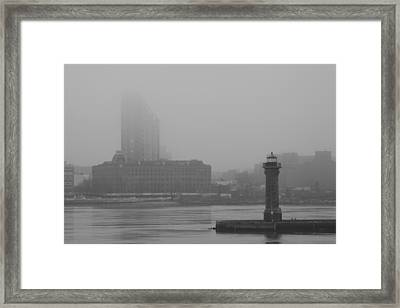 Framed Print featuring the photograph East River Nyc by Steven Macanka