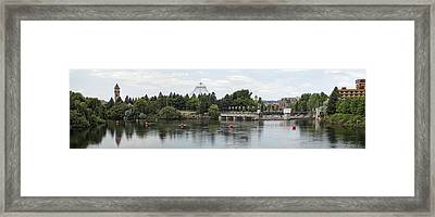 East Riverfront Park And Dam - Spokane Washington Framed Print by Daniel Hagerman