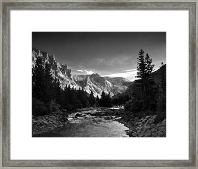 East Rosebud Canyon 7 Framed Print