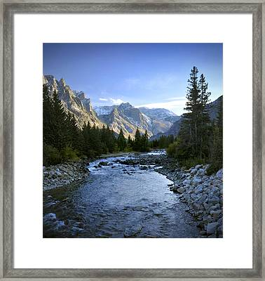 East Rosebud Canyon 8 Framed Print