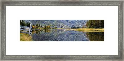 East Rosebud Lake Fall Panorama Framed Print
