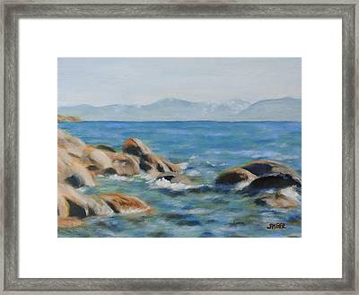 East Shore Rocks Framed Print