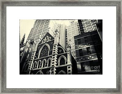 Midtown Faith New York City Framed Print by Sabine Jacobs