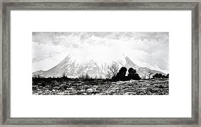East Spanish Peak Framed Print by Aaron Spong