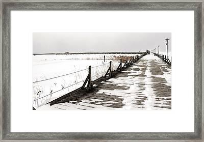 East Tawas Dock Framed Print