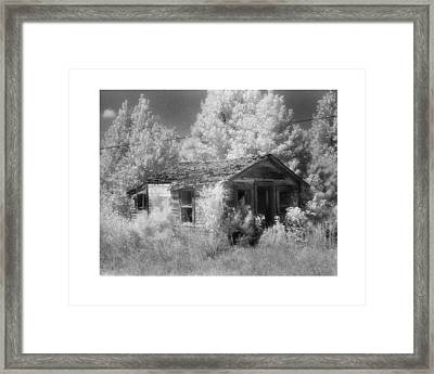 East Texas Cabin Framed Print by Greg Kopriva