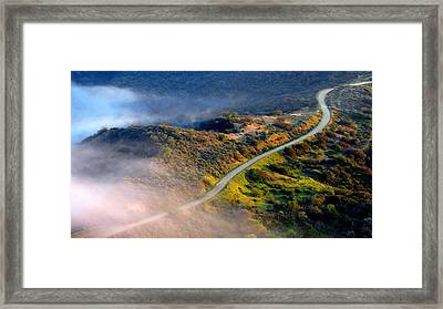 East Topanga Fire Road Framed Print by Catherine Natalia  Roche