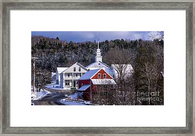 East Topsham Vermont. Framed Print by New England Photography