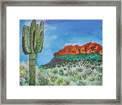 East Valley Mountains Framed Print by Marcia Weller-Wenbert