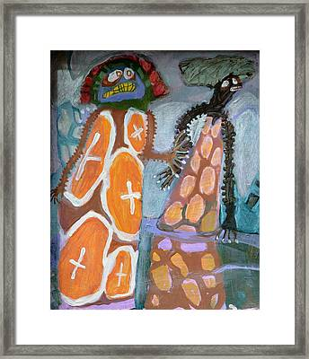 Eastanomically Nutty Framed Print by Nancy Mauerman