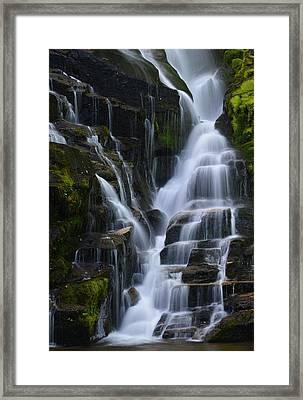 Eastatoe Falls Detail #5 - North Carolina Waterfalls Series Framed Print