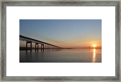 Eastbound Framed Print by Eileen Corbel