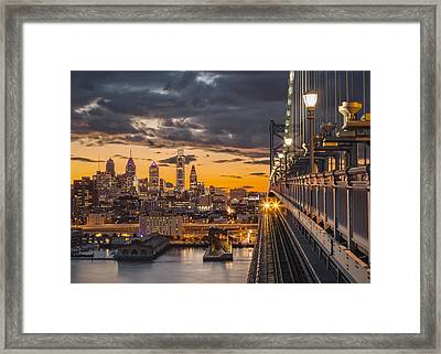 Eastbound Encounter Framed Print by Eduard Moldoveanu
