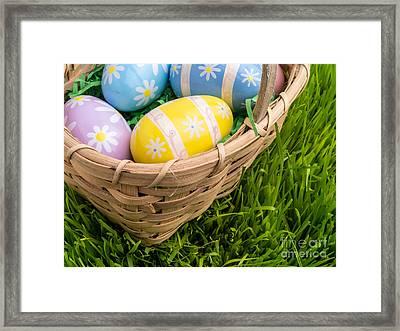 Easter Basket Framed Print by Edward Fielding