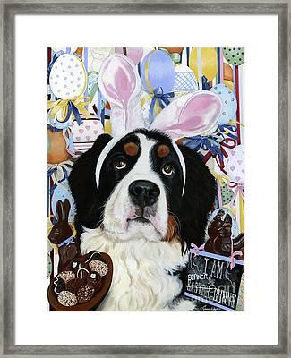 Easter Berner Bunny Duties Framed Print by Liane Weyers