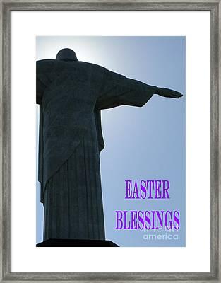 Easter Blessings Card Framed Print by Barbie Corbett-Newmin