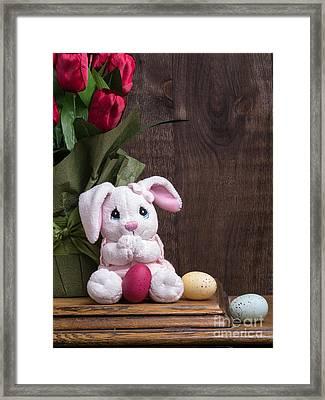 Easter Bunny Card Framed Print by Edward Fielding