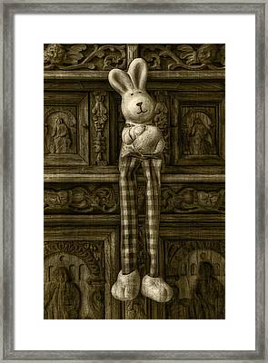 Easter Bunny From The Past Framed Print by Gynt