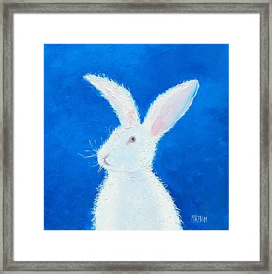 Easter Bunny Framed Print by Jan Matson