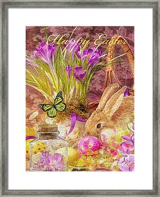 Easter Bunny Framed Print by Mo T
