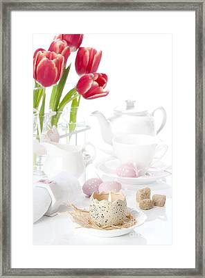 Easter Candle Framed Print by Amanda Elwell