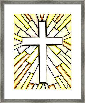 Easter Cross 3 Framed Print by Jim Harris
