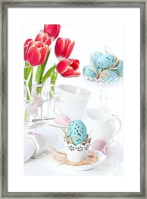 Easter Egg Setting Framed Print