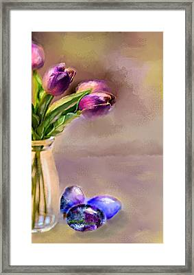 Easter Eggs Framed Print by Mary Timman