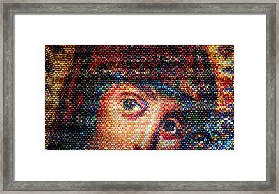 Easter Eggs Mosaic Framed Print