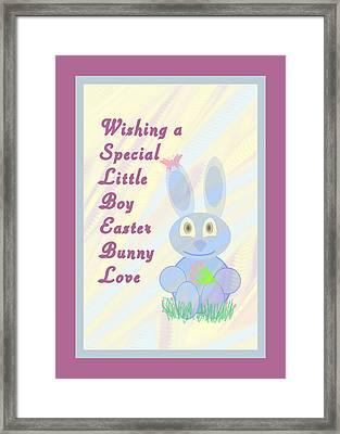 Easter For Small Boy Framed Print by Rosalie Scanlon