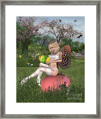 Easter Garden Fairy Framed Print