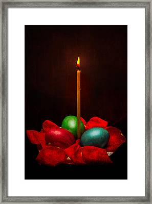 Easter Hope For Peace And Life Framed Print