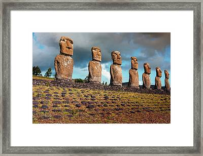 Easter Island, Chile Framed Print by Janet Muir