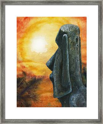 Easter  Island  Enigma Framed Print by Hartmut Jager