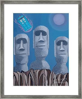 Easter Island Revisited Framed Print by Anthony Morris