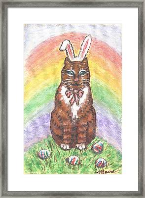 Easter Kitty Framed Print