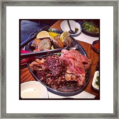 #easter #lunch #korean #bbq #seafood Framed Print