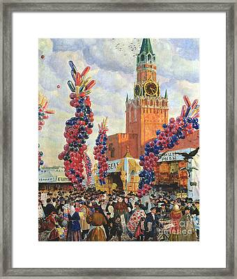 Easter Market At The Moscow Kremlin Framed Print