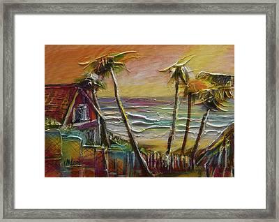 Easter Unwind Mayaro 1 Framed Print by Cynthia McLean