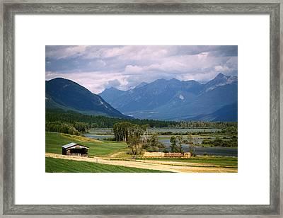 Eastern British Columbia  Framed Print by Robert Lozen