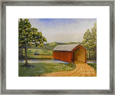Eastern Covered Bridge Framed Print