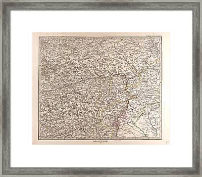 Eastern Europe Map 1873 Gotha Justus Perthes Atlas Framed Print
